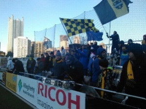 The Steel Army weathered the elements, and were rocking Highmark Stadium