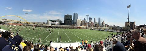 Pitt's Blue-Gold game was played at Highmark Stadium on Saturday.