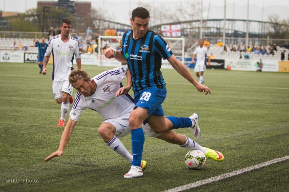 Vini Dantas scored the equalizer to keep the Riverhounds playoff hopes alive on Saturday.