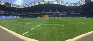Hounds and NY Red Bull II doing battle at Red Bull Arena in Harrison, NJ this afternoon.