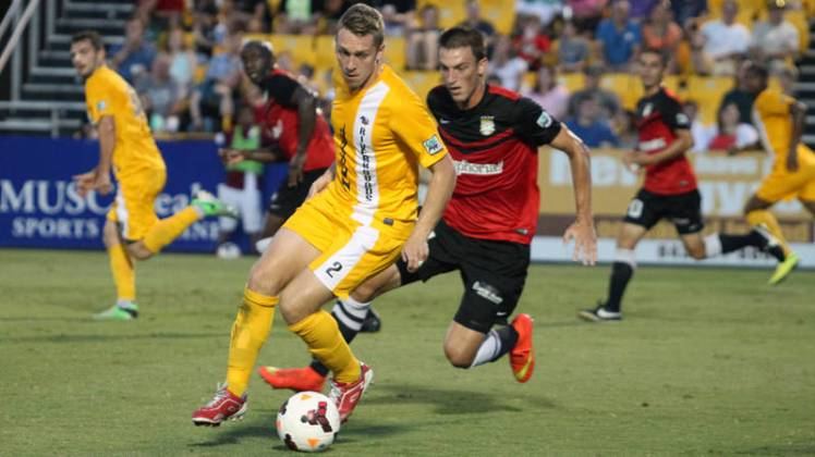 Rob Vincent and the Riverhounds take on the MLS DC United at Highmark Stadium on Wednesday in Lamar Hunt U.S. Open Cup.
