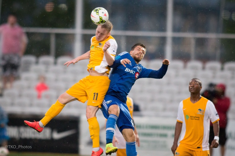 The Riverhounds defeated F.C. Montreal 1-0 on June 20 at Highmark Stadium