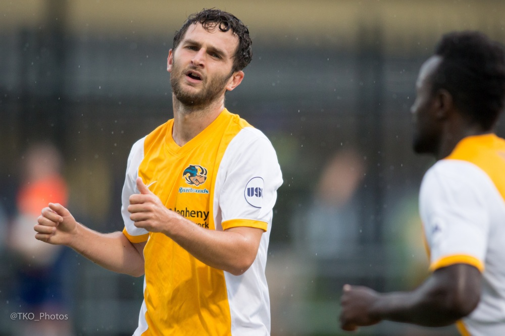 Do Kevin Kerr (pictured) and Rob Vincent (league's second best 12 goals) have enough left in the tank to lead the Riverhounds to the playoffs?