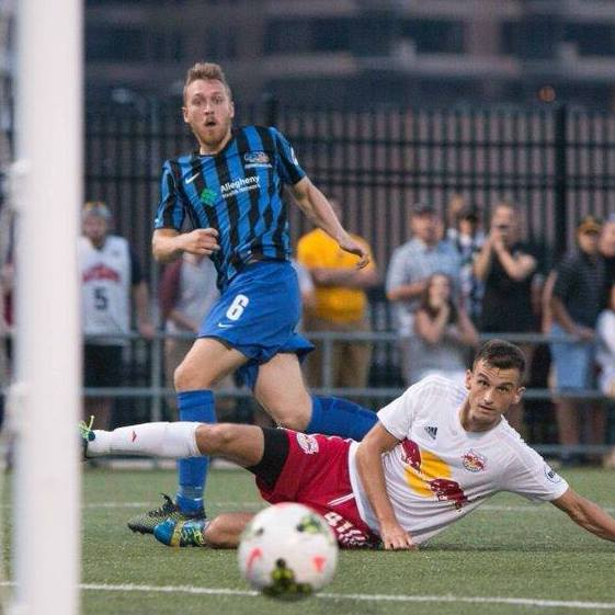 Rob Vincent and the Riverhounds split their season series with the NY Red Bulls II.