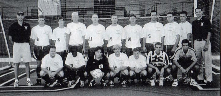 Larry Fingers, front row, fourth from left, played on the 1998 Point Park men's soccer team coached by Pittsburgh Soccer Report's John Krysinsky