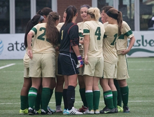 Point Park women  (11-6-2, 6-2 KIAC)  are playing in the KIAC finals at Highmark Stadium on Saturday after a 3-1 win over Rio Grande.